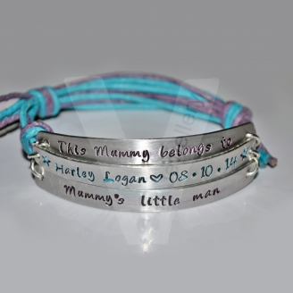 Personalised Multi-Plate Bracelet *Higher Quality*