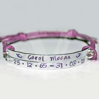 "Personalised ""In Memory"" Double Multi-Plate Bracelet"