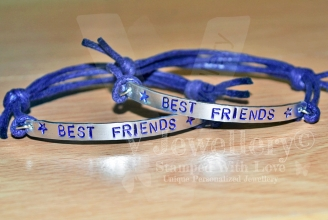Best Friend Single Plate Bracelet