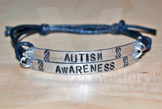Autism Awareness Double Multi-Plate Bracelet