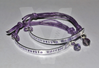 Awareness Hand Stamped Bracelet