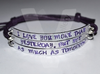 """I Love you more..."" Triple Multi-Plate Bracelet"