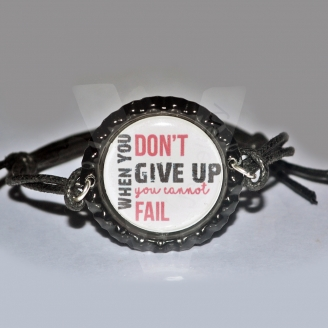 Quote Printed Design Adjustable Bracelet