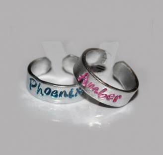 Personalised Toe/Midi Rings *Set of 2*