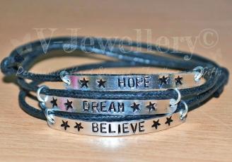 """""""Hope... Dream... Believe"""" Wrap Multi-Plate Bracelet"""