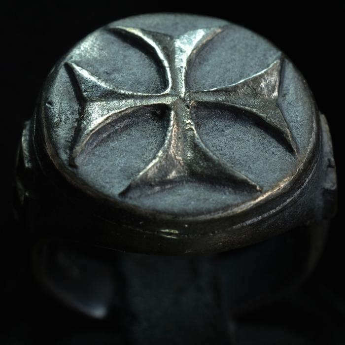 Knights Templar Ring • .925 Sterling Silver • Cross Ring • #S4