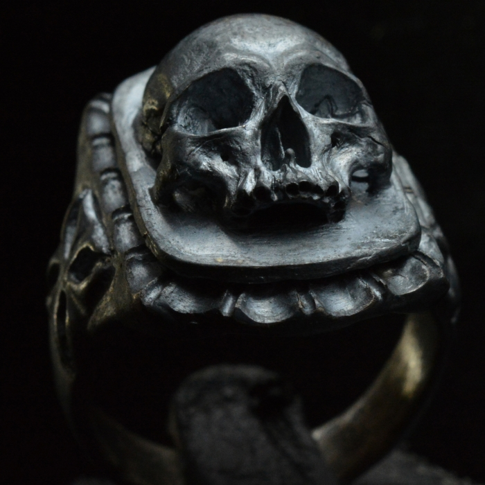 Skull Signet Ring • .925 Sterling Silver • Skull Ring • #9