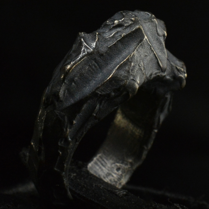 Relic Nugget ring • .925 Sterling Silver • Men's FashionRing • #49