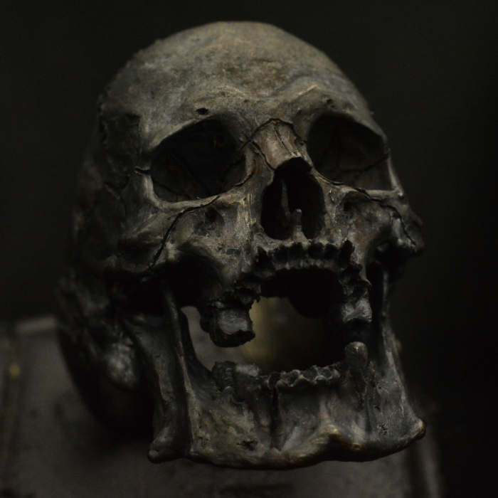 Large Decayed Open Jaw • .925 Sterling Silver • Skull Ring •