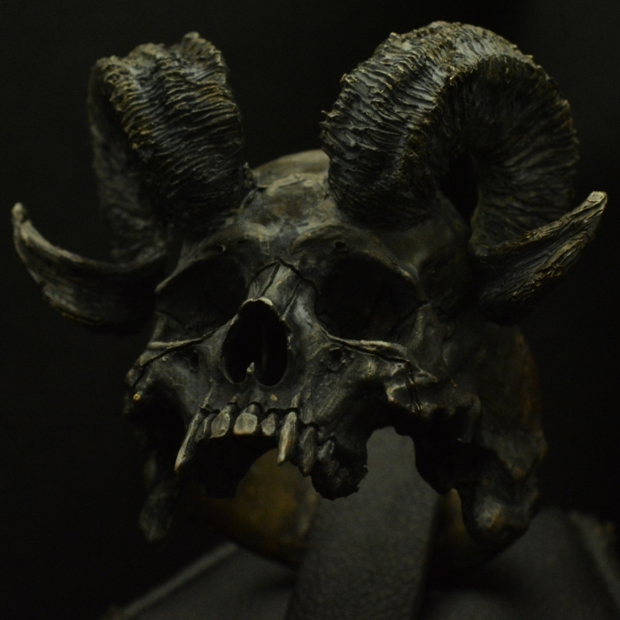 Horned Beast Half Jaw • .925 Sterling Silver • Skull Ring •