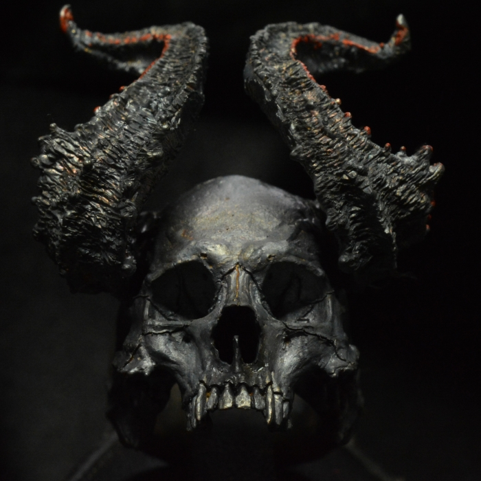 Pre Order - Horned God Half Jaw • .925 Sterling Silver • Skull Horn Beast Ring •