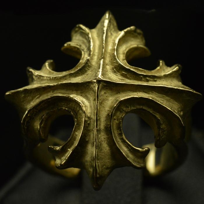 Gold Old World Cross Ring • . 10kt - 18kt • #64