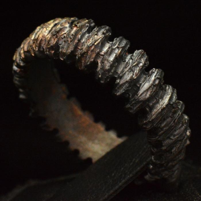 Fiery Ash Ring • .925 Sterling Silver • Skull Ring • #110