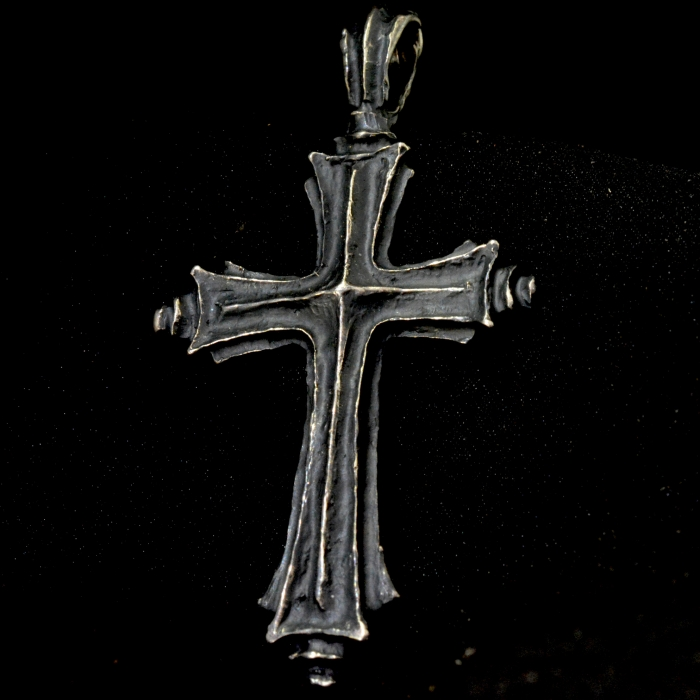 Old World Cross Pendant • .925 Sterling Silver • #
