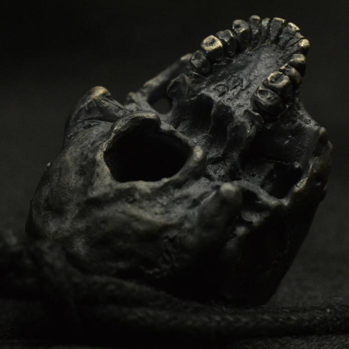 Complete Half Jaw Skull Pendant • .925 Sterling Silver • Skull #29