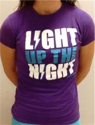 Light Up The Night GIRLS Purple Logo T-shirt
