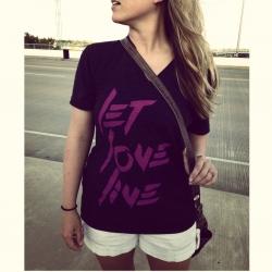 'Let Love Live' Black Unisex V-Neck