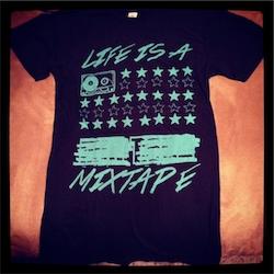 'Life is a MixTape' NEW Black Unisex Tee