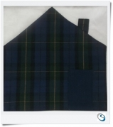 House shape Table mat -Green Blue Tartan