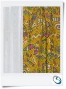 """Yellow surfer pattern 14"""" wide x 24"""" drop"""