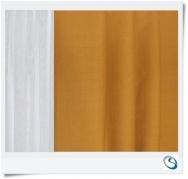 "Set 4 curtains 26"" wide x 22"" drop"