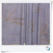 "Pair lavender blue curtains 26""w x 16"" d"