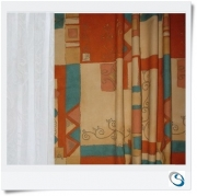 """Pair curtains 26""""w x 30"""" Terracotta"""