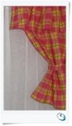 """Valance/pelmet curtain Pink 14""""w x 17""""d"""