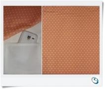 "Peach pocket curtain 16"" w x 14"" drop"