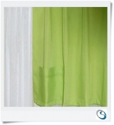 "Lime Pocket curtain 35"" wide x 16.5"" drop"