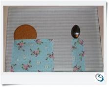 Snack mat - Mug rug. Shabby chic style