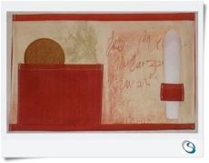 Mug rug Snack mat Cream & Terracotta