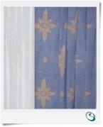 "Pair Blue curtains 22"" wide x 12"" d"
