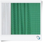 "Set 4 curtains 25"" wide x 24"" drop Green"