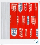 "Set 4 curtains England Red 26"" wide x 24"" d"