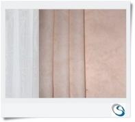 "Pair cream beige curtains 26"" w x 9"" d"