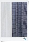 """Pair Curtains Blue gingham 11"""" w x  19"""" d"""