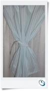 "Candy stripe curtain 19"" wide x 17.5"" d"
