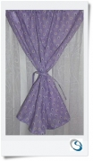 "Lilac ditsy curtain 20"" wide x 17"" d"