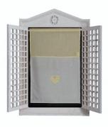 "Lemon White Curtain 17.5"" w x 24"""