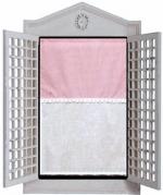 "Pink & White gingham 18"" w x 28"""