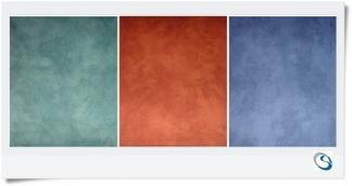 """PLAIN CURTAIN 24"""" w x 32"""" d Blue Green Terracotta"""