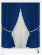 """Blue 16""""w x 21"""" Inc bling tie backs"""