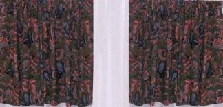 "Pair Green Grey Pink curtains 45"" w x 22""d"