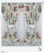 """Retro kitsch Curtains 20"""" wide x 23"""" d"""