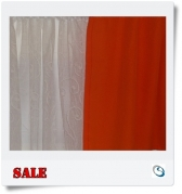 Single Orange curtain