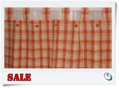 Orange Tab top curtain