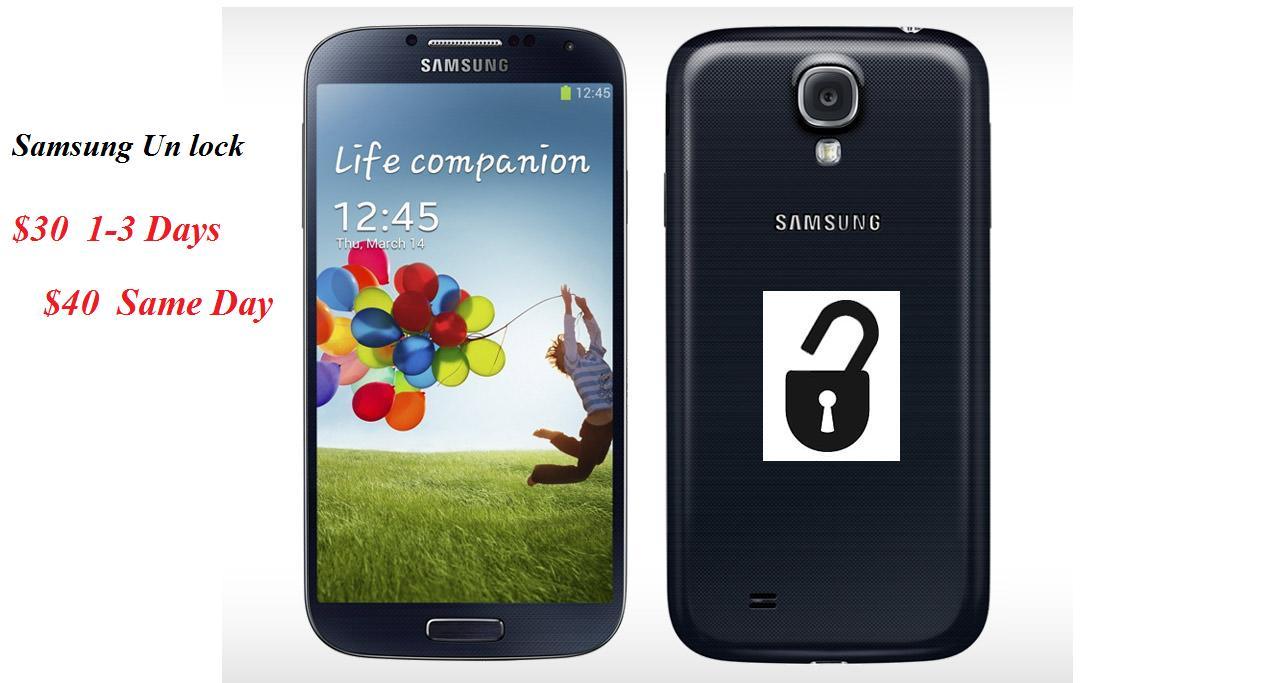 ATT/T-Mobile/Criket/Metro PCS Unlocks for Samsung Phones