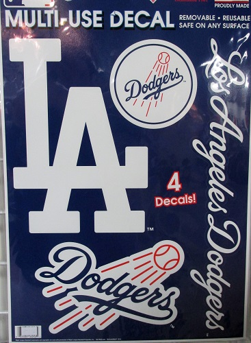 1a8b42a123d Los Angeles Dodgers MLB Decal Sheet of 4 Resusable Decals NEW