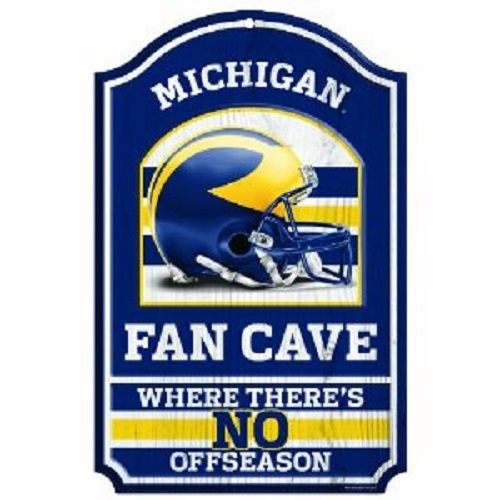 Michigan Wolverines NCAA Wood Sign 11x17 Fan Cave Office Home Man